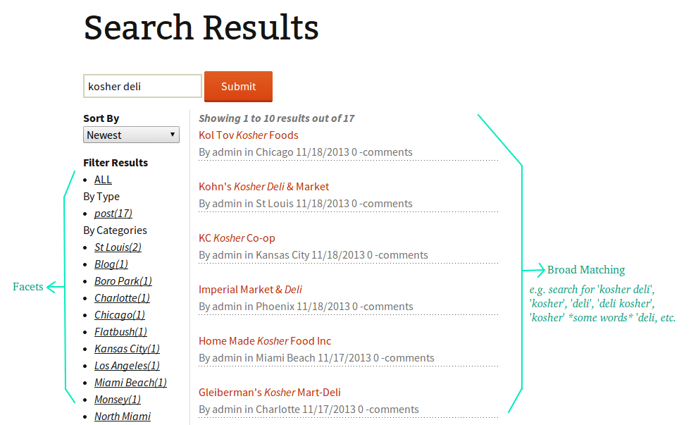 Image SolrSearchResults.png of Quick start