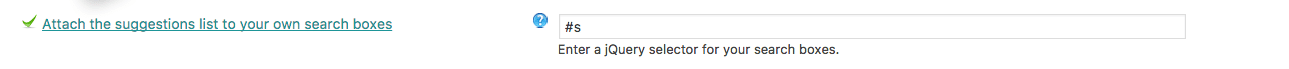 Use the jQuery selector box to indicate which of your search form(s) to enhance with WPSOLR Live Search.