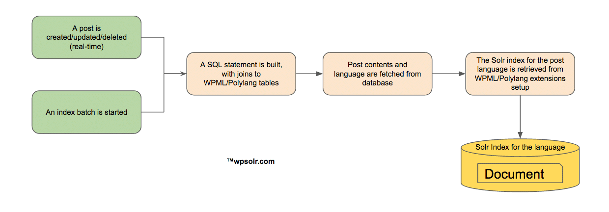 Retrieve the Solr index for a post language
