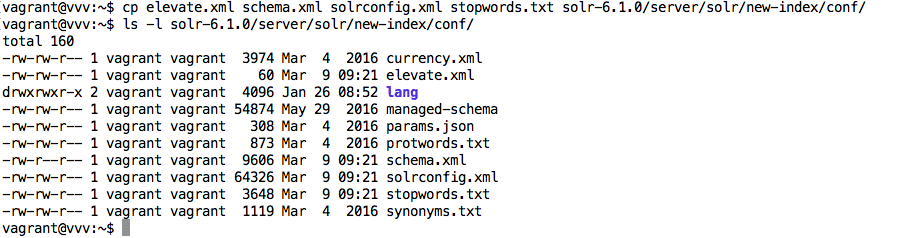 Copy the WPSOLR Solr configuration files to the new index /conf directory