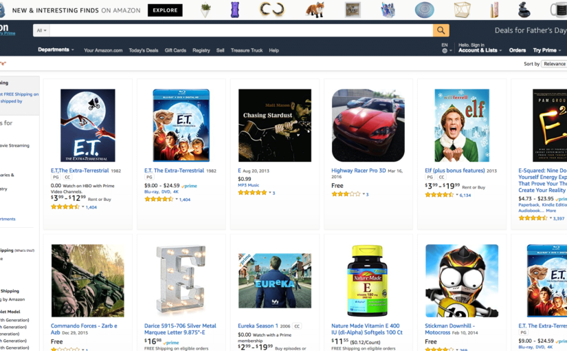 Amazon search features