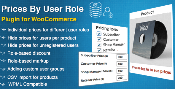 WooCommerce Prices By User Role Premium WordPress Plugin