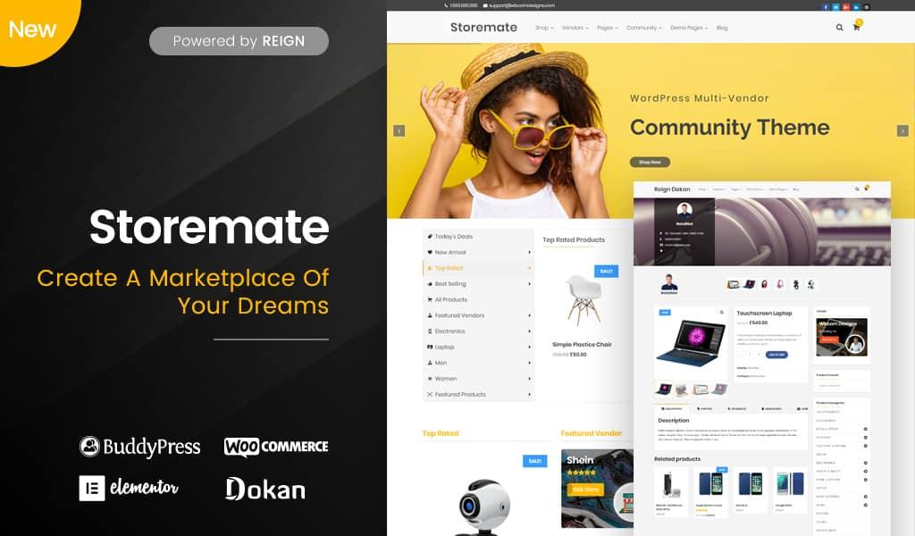 Image WordPress-MarketPlace-Dokan-Theme.jpg of Best Ecommerce WordPress Themes