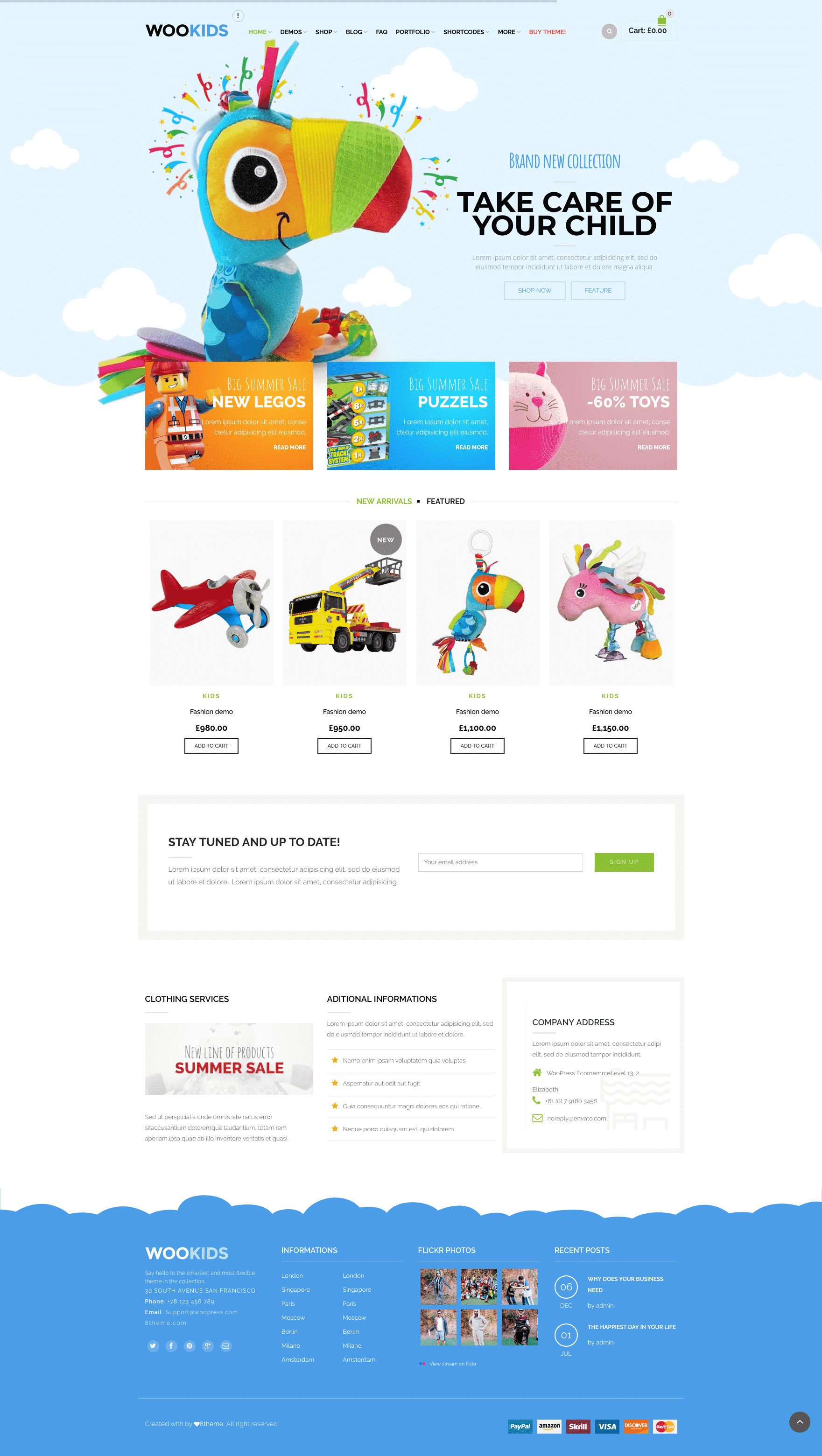 8theme Woopress kids WooCommerce theme