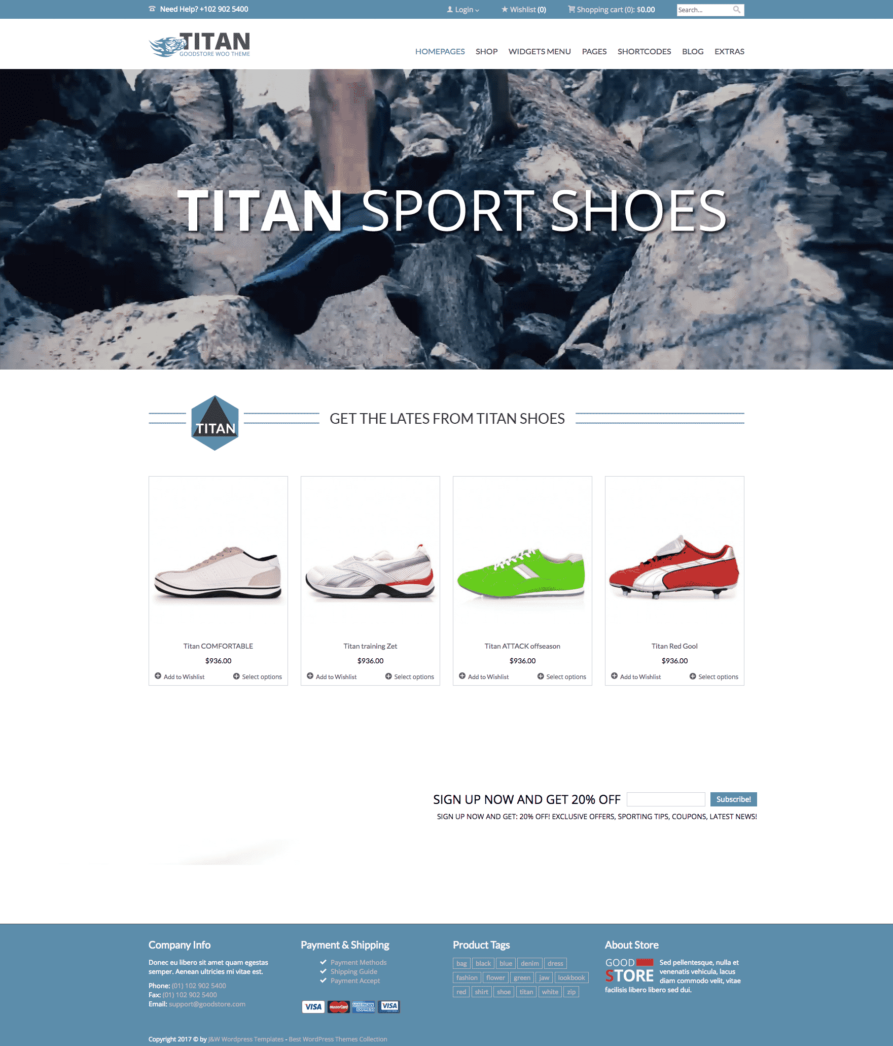 Jawtemplates Goodstore WooCommerce theme