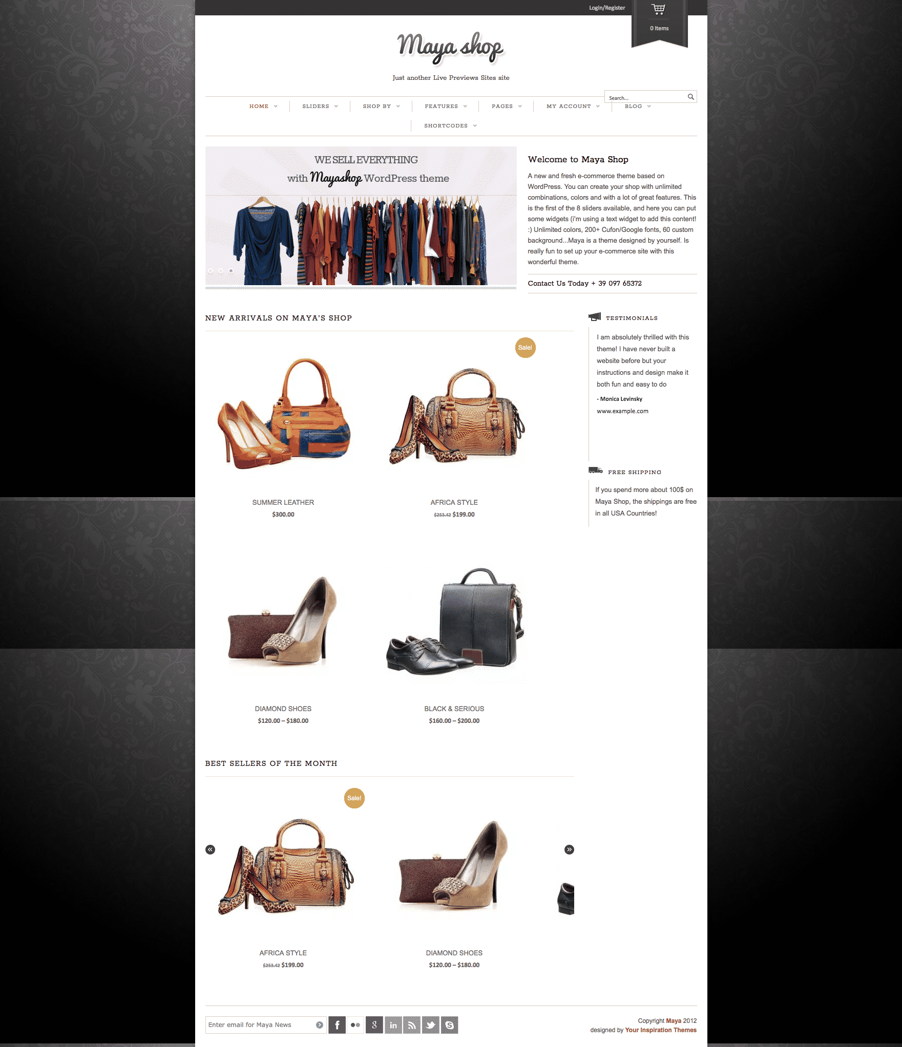 Yithemes Maya shop WooCommerce theme