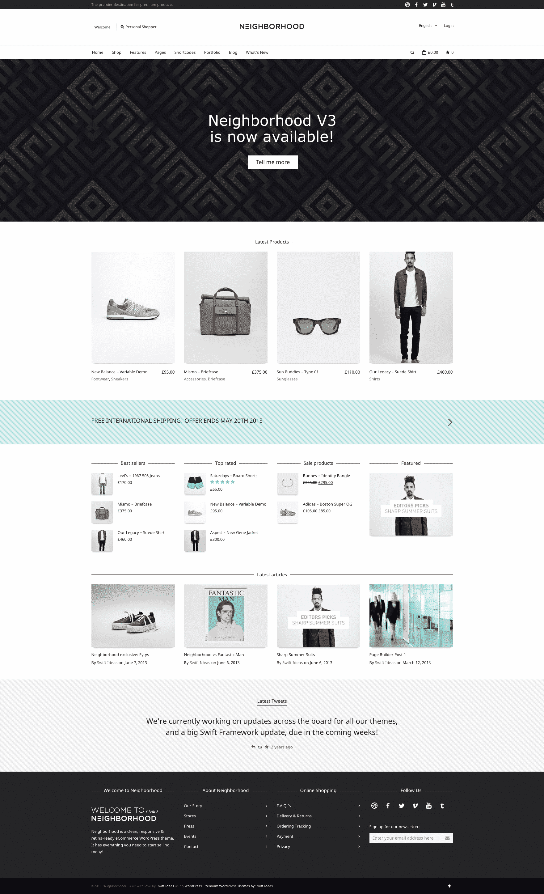 Neighborhood swiftideas WooCommerce theme