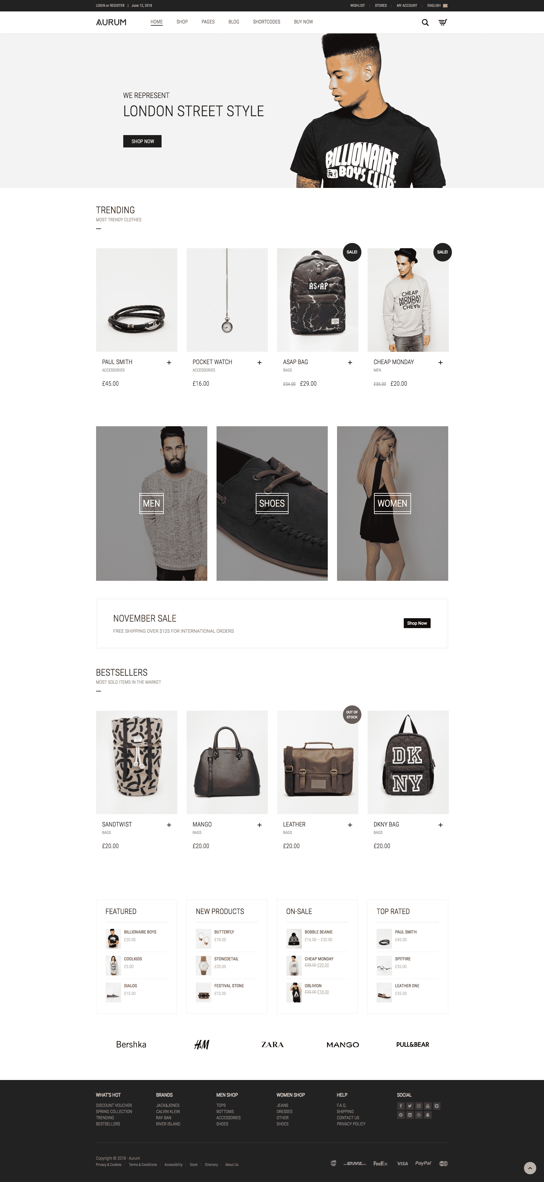 Laborator Aurum WooCommerce theme