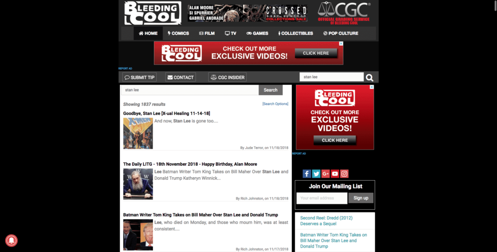bleedingcool.com - Cultural media
