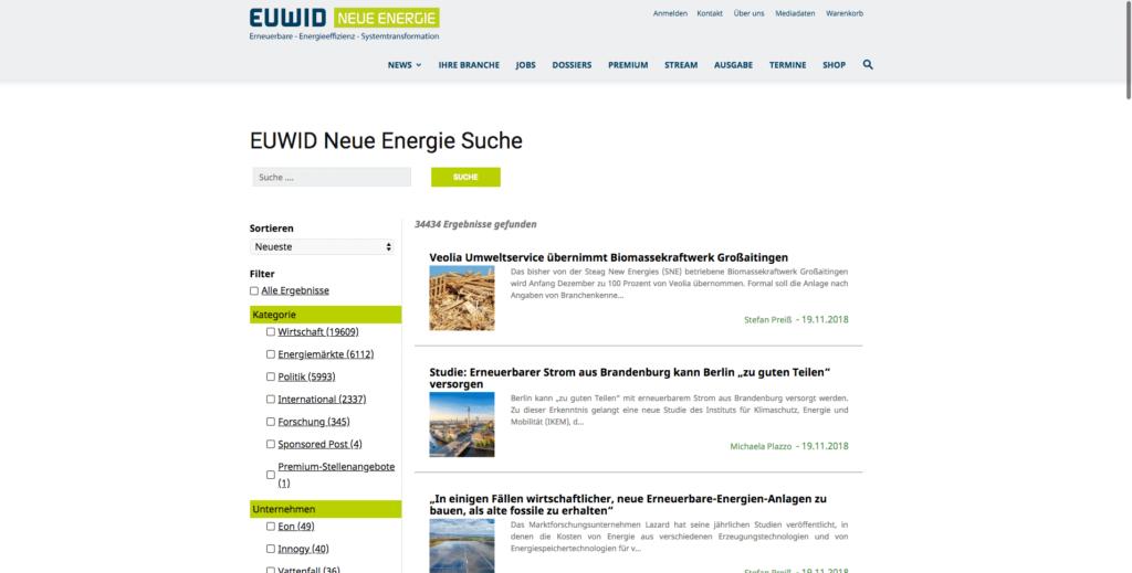 euwid-energie.de - German Renewable Energy media