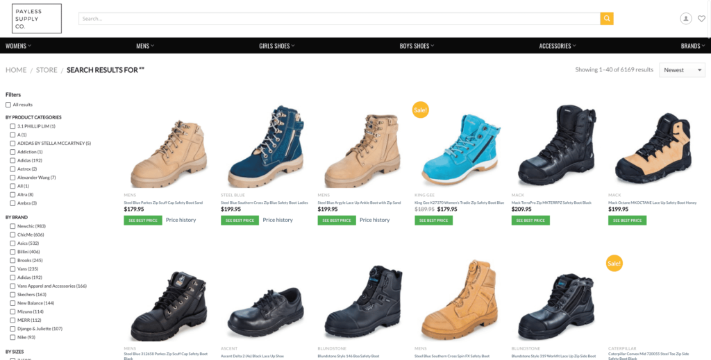 paylessshoes.com.au - Austrian Shoes WooCommerce