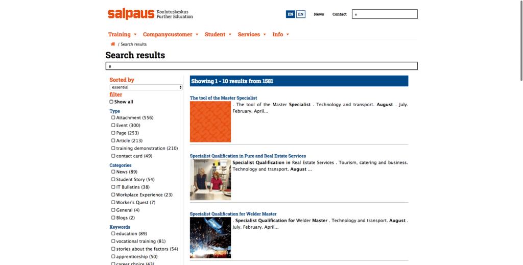 salpaus.fi - Finish edu portal
