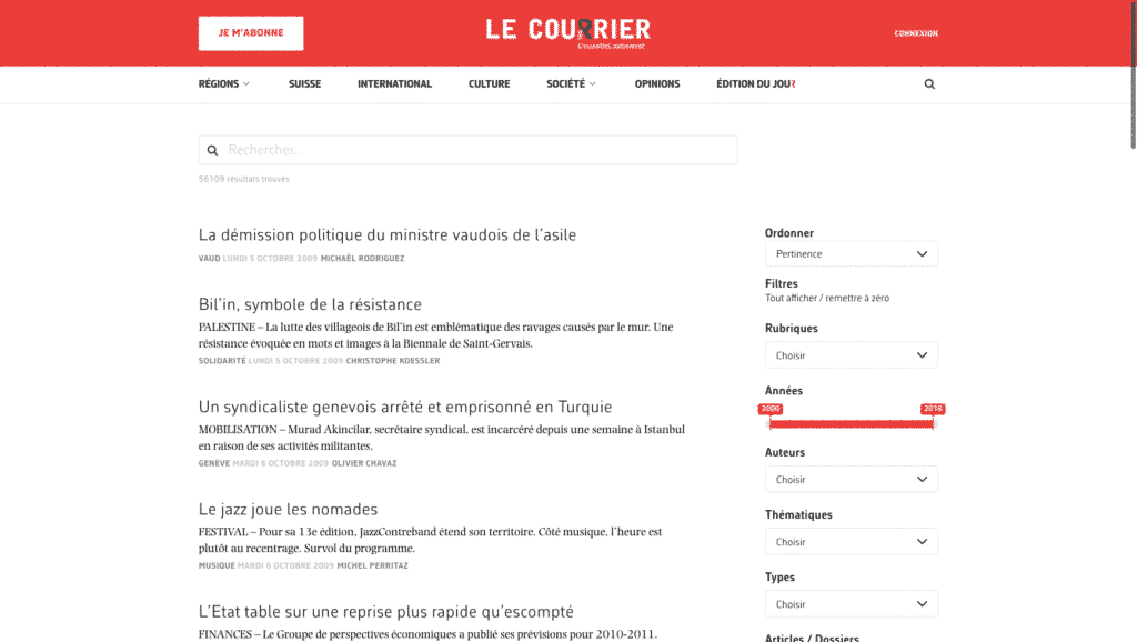 Le Courier - Swiss National Newspaper