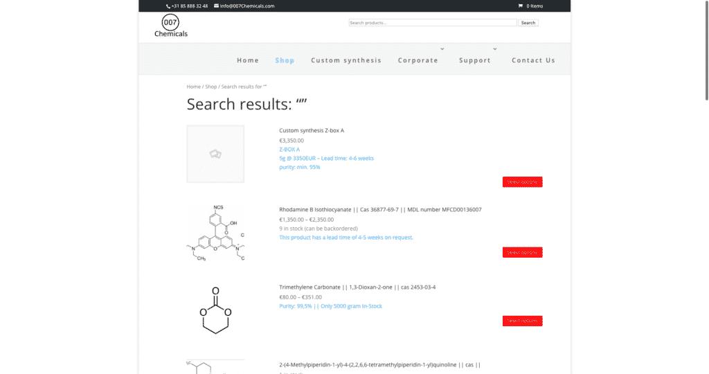 007chemicals.com