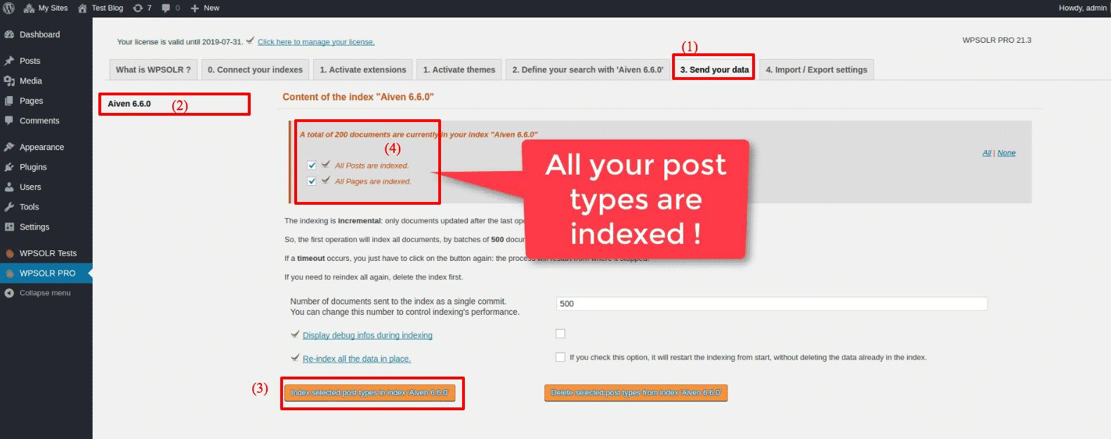 Aiven Elasticsearch: new index indexed