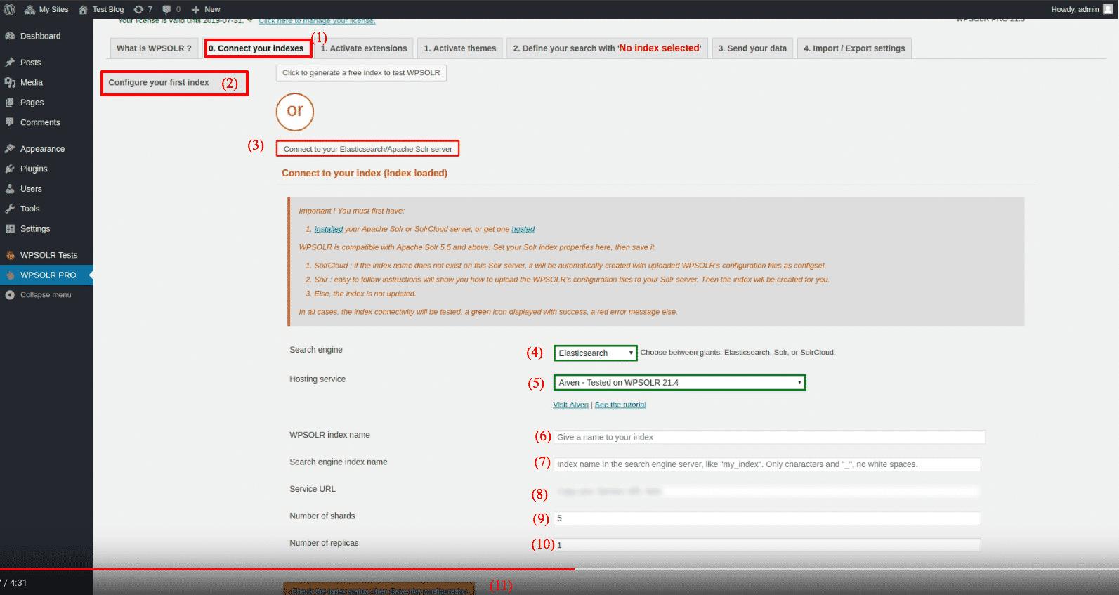 Aiven Elasticsearch: new index