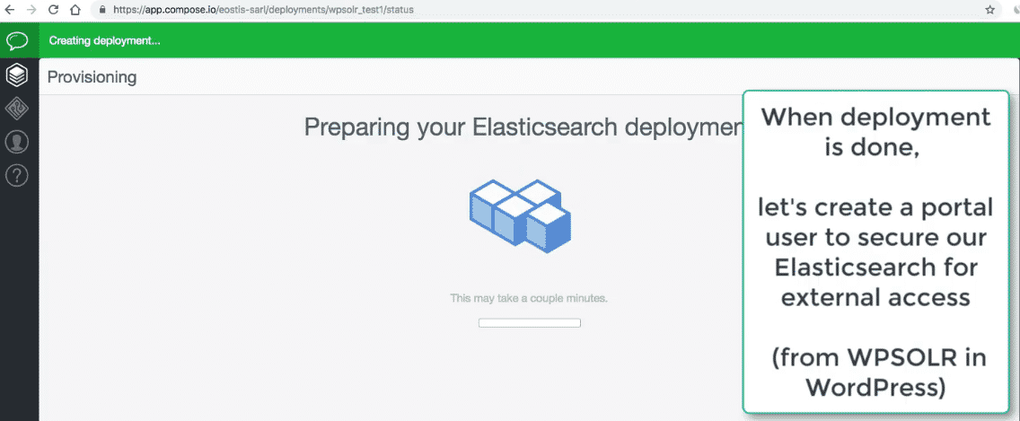 Compose Elasticsearch: new deployment preparing