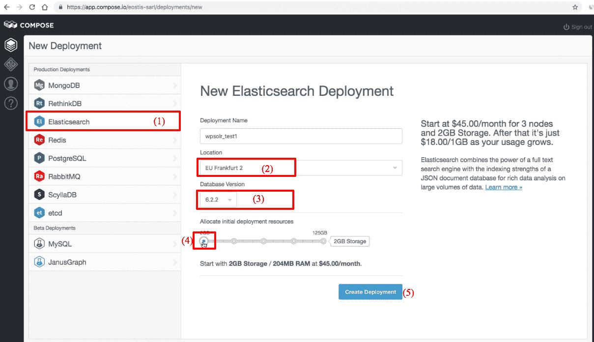Image wpsolr-compose-elasticsearch-deployment-new.png of Create a Compose Elasticsearch index