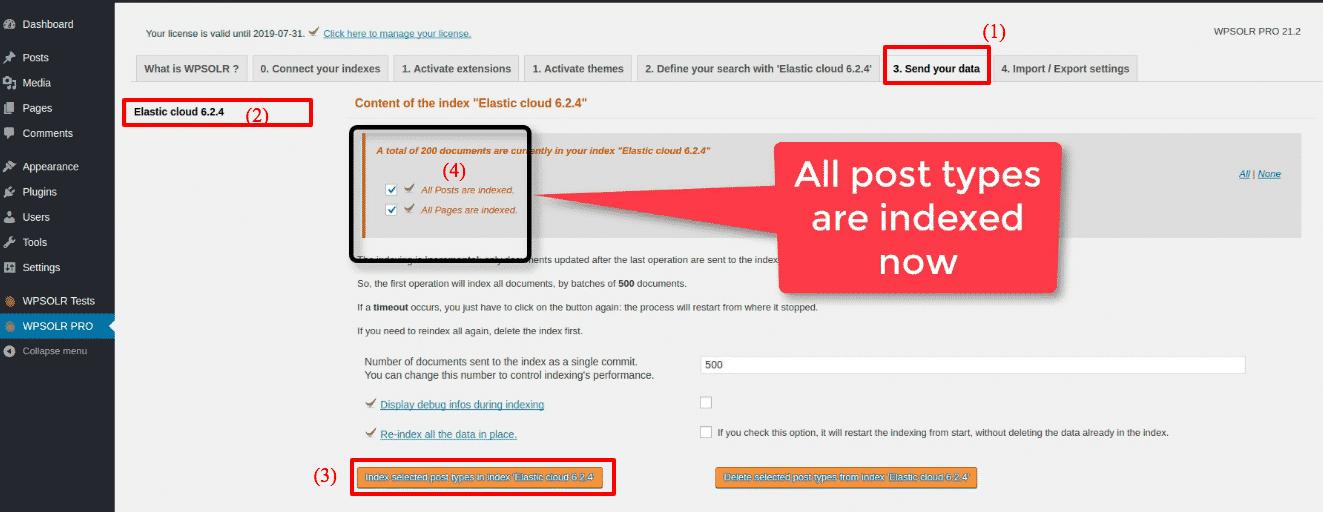 Elastic Elasticsearch: new index indexed
