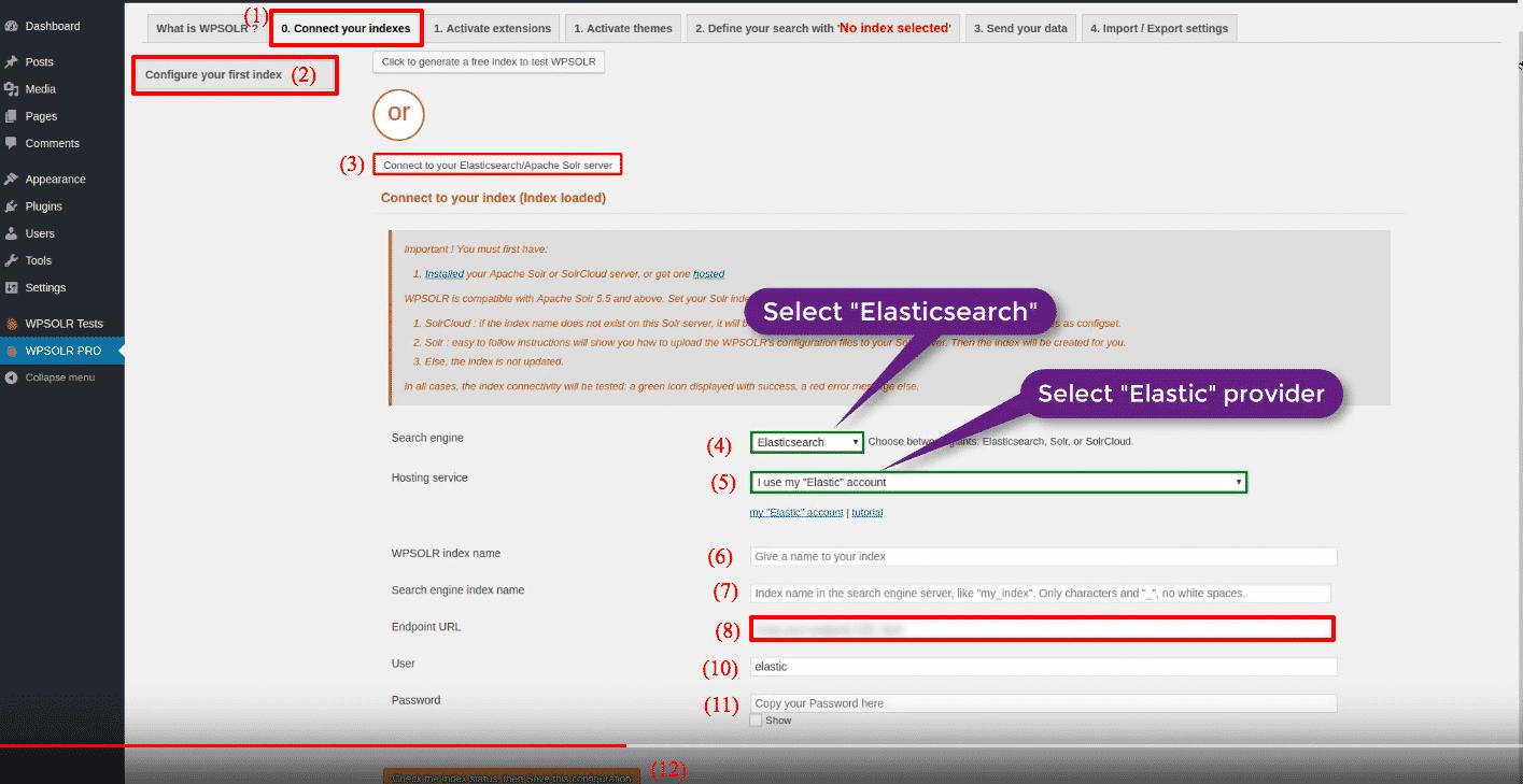 Elastic Elasticsearch: new index