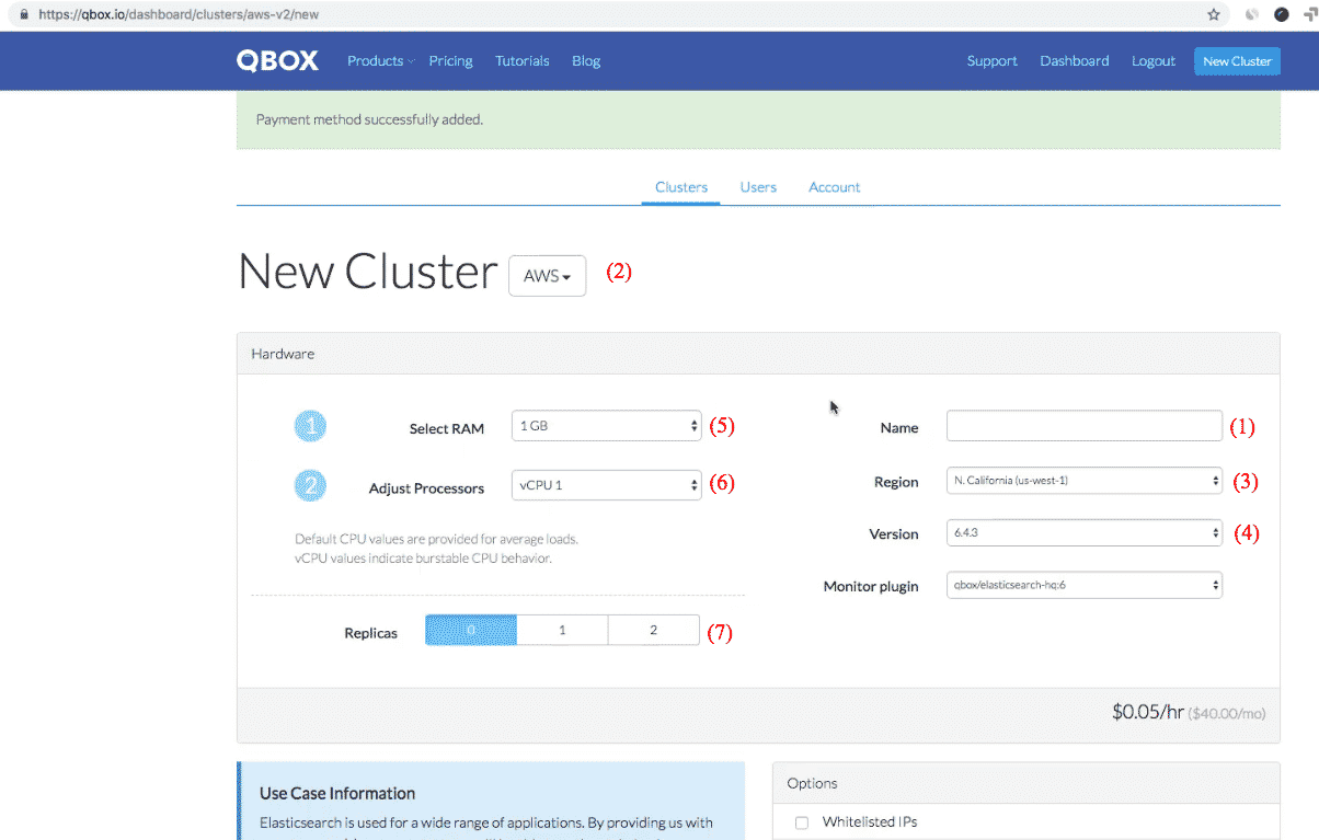 Qbox Elasticsearch: new cluster hardware