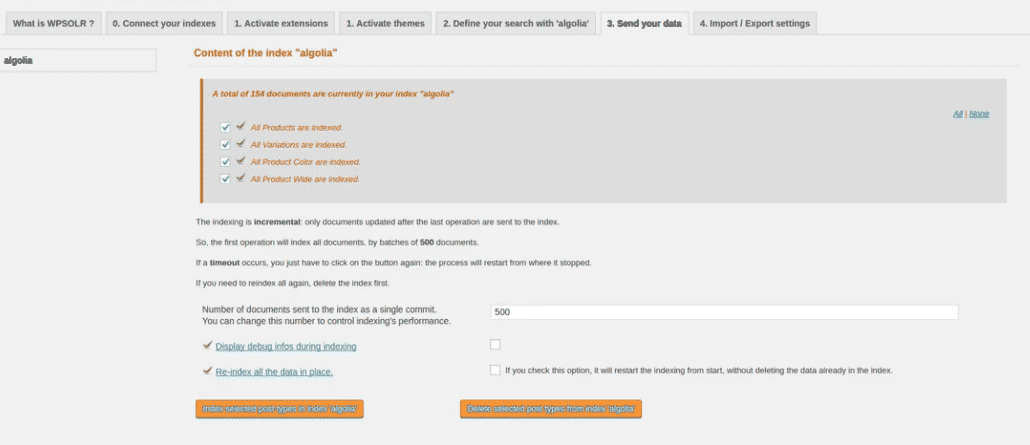 Image wpsolr-admin-algolia-indexing.png of Create an Algolia index