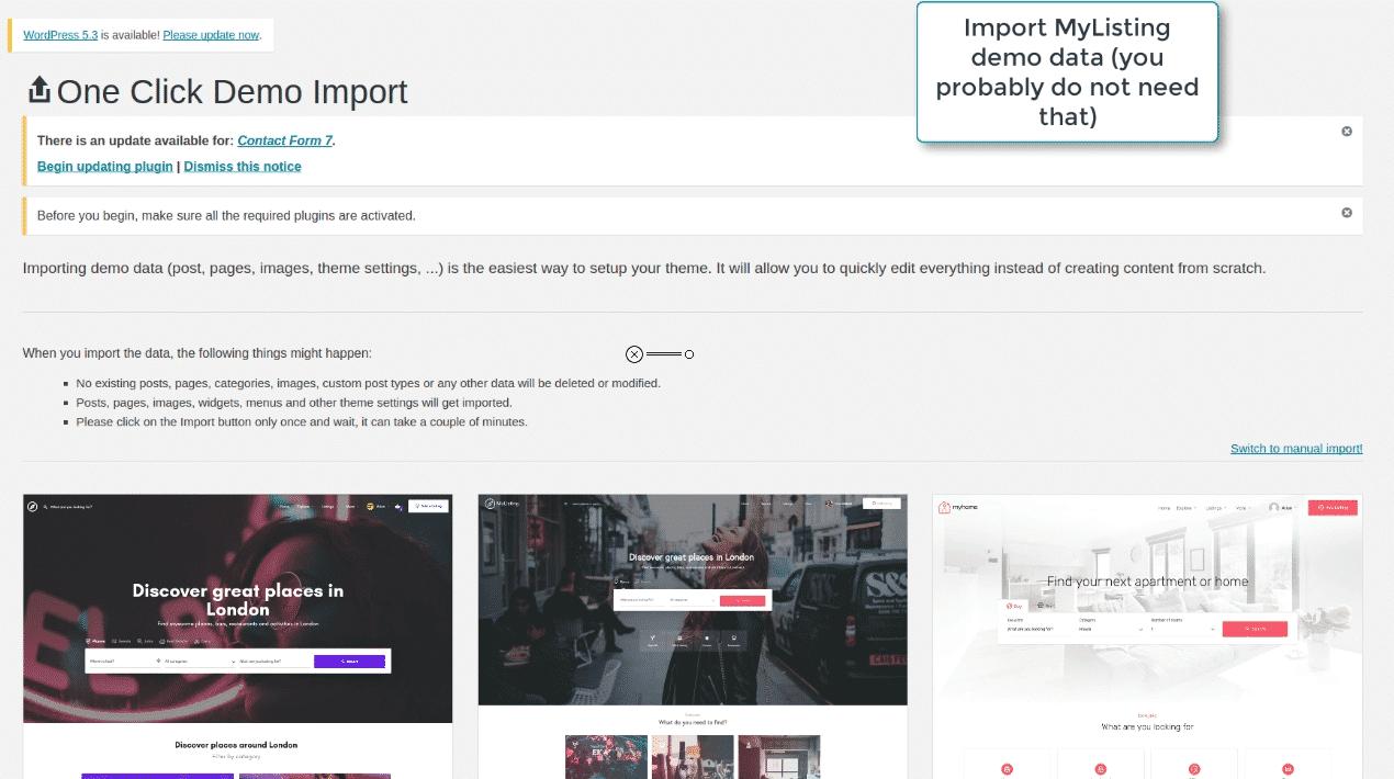 Image wpsolr-demo-mylisting-import-data.png of Setup MyListing Theme with Elasticsearch